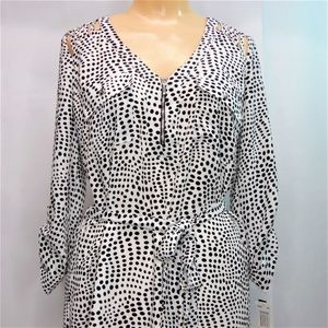 XOXO Polkadot Printed Polyester Shirt Dress